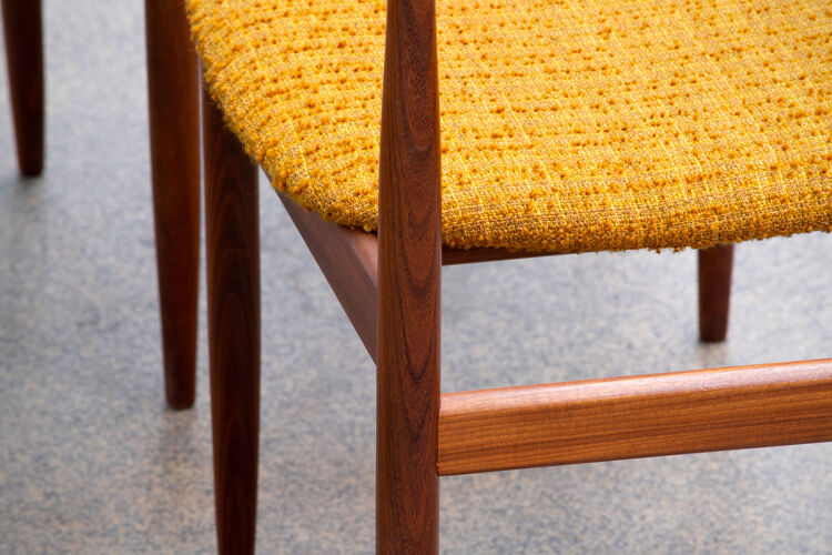 Série de 4 chaises scandinaves GPlan