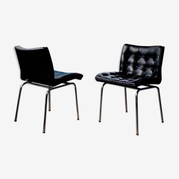Paire de chaises 62 par René-Jean Caillette édition Charron 1961