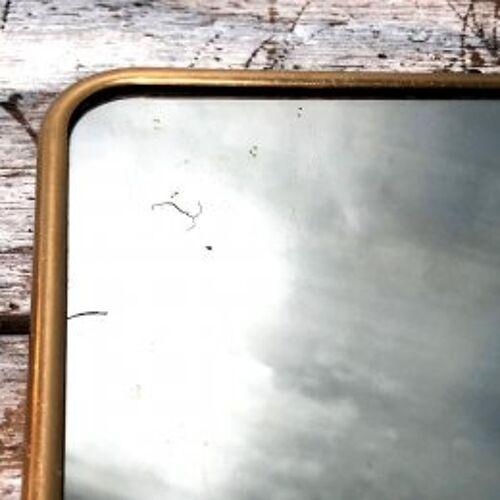 Miroir de barbier ancien 24x30cm