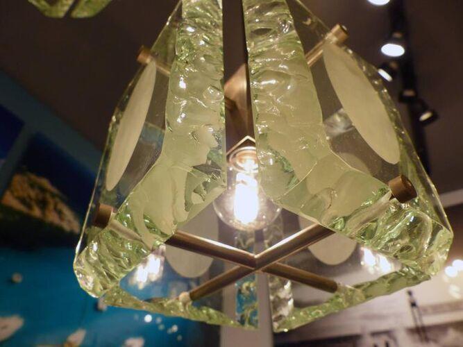 Chandelier en verre, années 1970