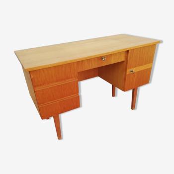 Bureau vintage 4 tiroirs 1 porte
