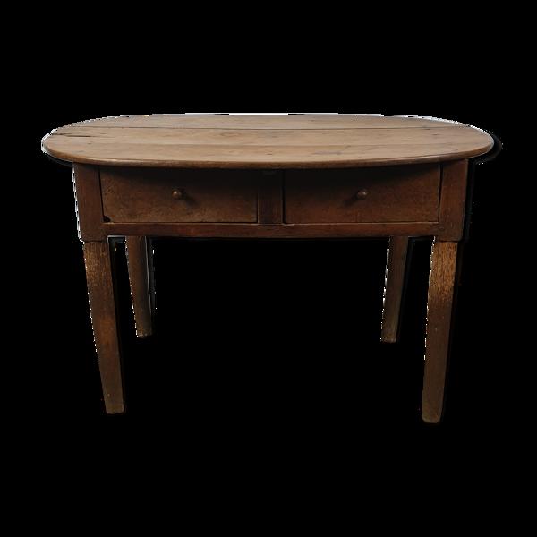 Table de ferme en noyer ancienne