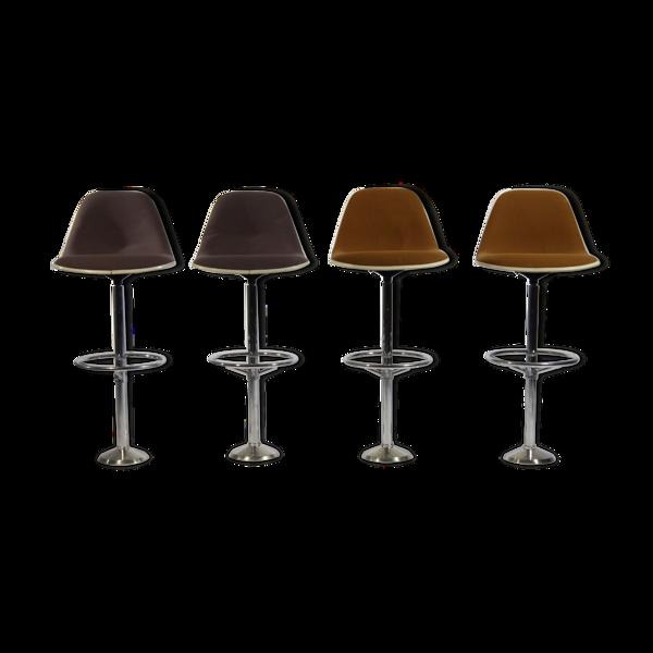 Selency Tabourets de bar par Ray & Charles Eames pour Herman Miller