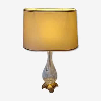 Lampe de table cristal d'Albret France années 1970