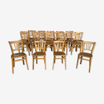 20 chaises bistrot bois courbé  vintage