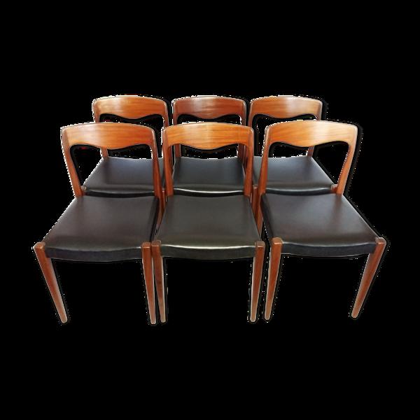 Chaises scandinaves en teck 1960s