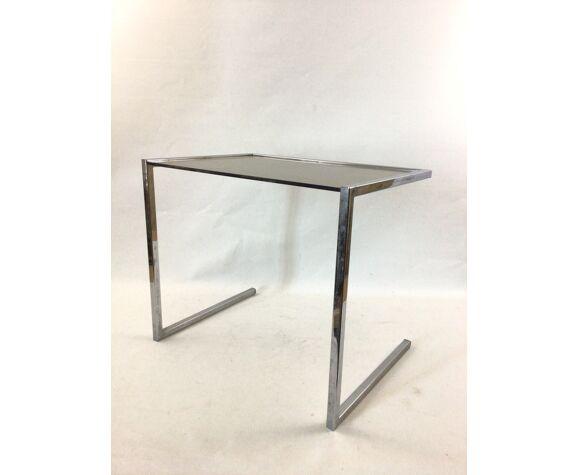 Table basse en verre fumé
