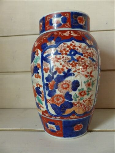 Vase en porcelaine Imari Japon fleurs XIXe siècle