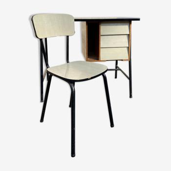 Bureau 1950 avec chaise