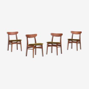 Ensemble de 4 chaises à manger par Farstrup, Danemark 1960