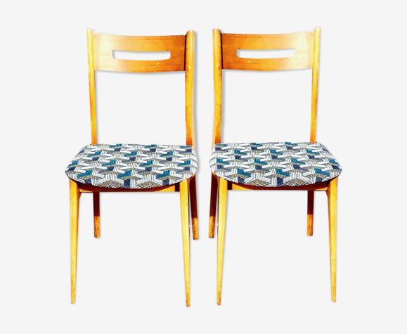 Lot de 2 chaises, années 1950