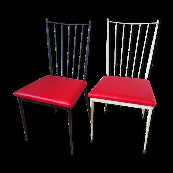Paire de chaises de Colette Gueden 1950