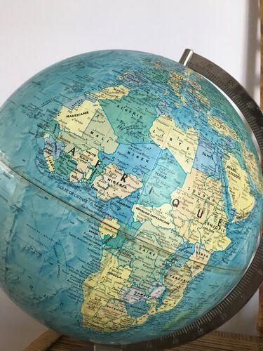 Globe terrestre Stereo relief par Scanglobe vers 1980