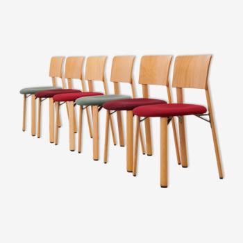 Chaise Kusch & Co en bois et tissu vert