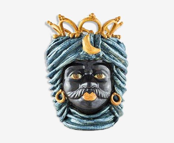 Vase couronne bleu ciel homme