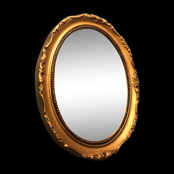 Miroir ancien doré (34x27cm)