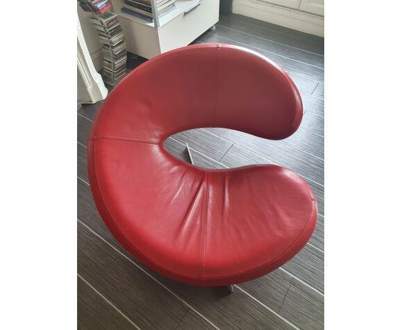 Salon lot canapé avec 2 fauteuils en cuir Roche Bobois