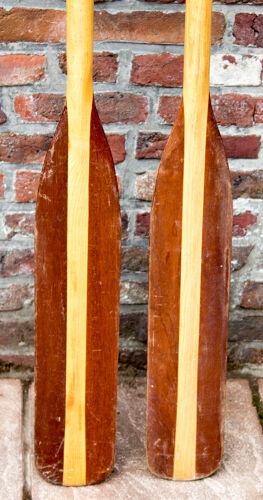 Vieille paire de pagaies en bois 180 cm