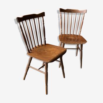 Paire de chaises bistrot western