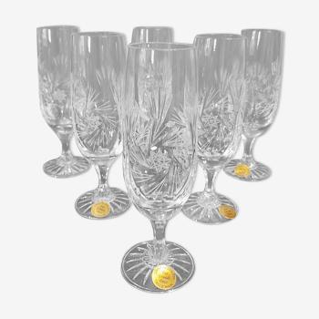 6 flûtes à champagne cristal les grands ducs