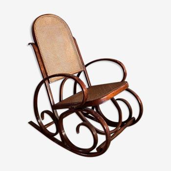 Rocking chair Thonet en bois courbé