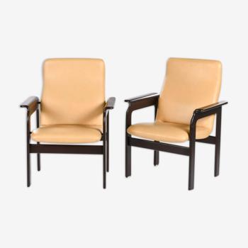 Paire de fauteuils bridge par Bruno Rey