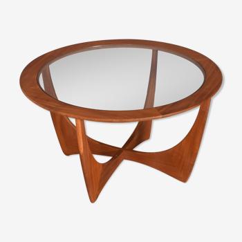 Restored Teak Retro G Plan Fresco Teak & Glass Astro Coffee Table