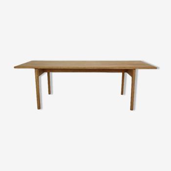 "Hans J Wegner Solid Oak Coffee Table ""AT-15"" for Andreas Tuck, 1960's Denmark"