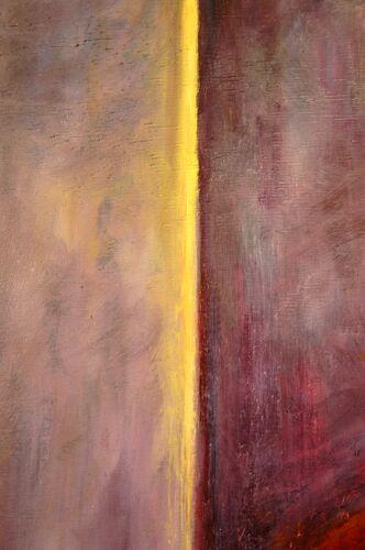 Huile sur bois autoportrait d'un artiste