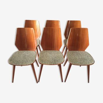 Suite de 6 chaises Baumann
