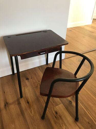 Bureau et chaise vintage enfant