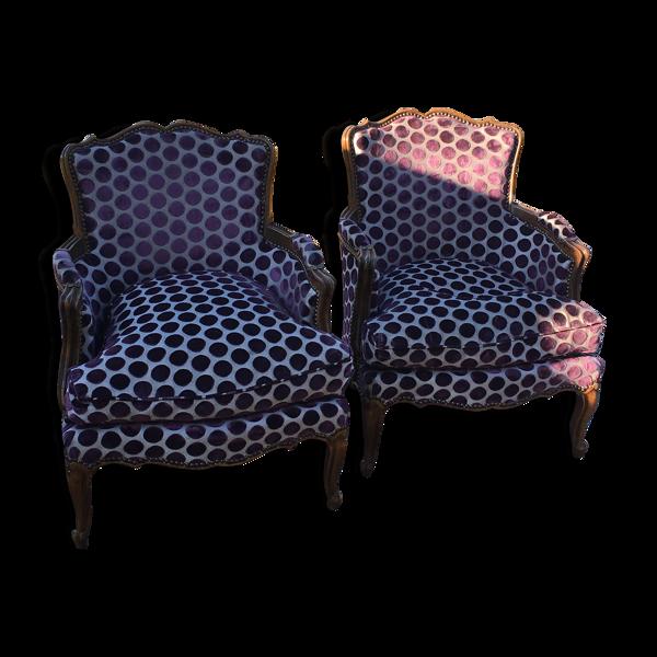 Selency Paire de fauteuils crapauds