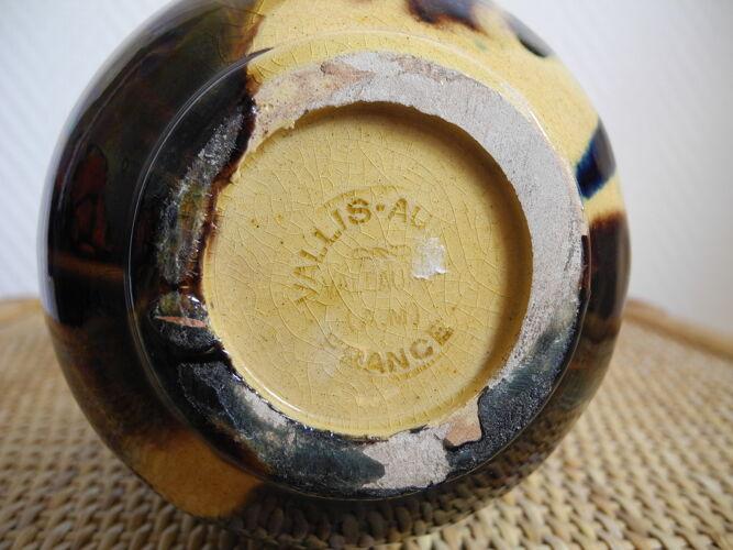 Vase céramique Vallauris Vallis Aurea déco vintage
