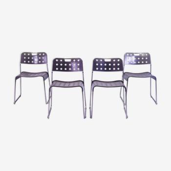 Chaises par Rodney Kinsman pour Bieffeplast années 1970, set-of-4