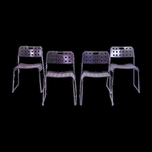 Selency Chaises par Rodney Kinsman pour Bieffeplast années 1970