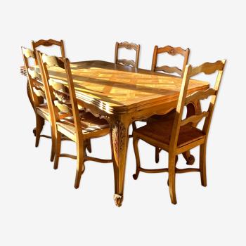 Lot table avec 6 chaises