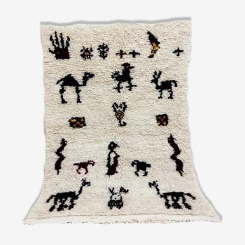 Tapis marocain en laine berbère 125 x 82cm