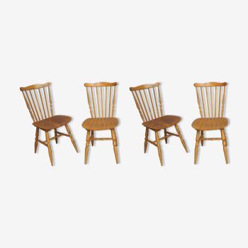Lot de 4 chaises bistrot Baumann Tacoma des années 60