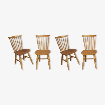 Lot of 4 chairs bistro Baumann Tacoma from the 60s