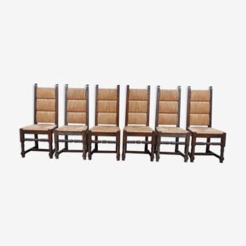 Ensemble de six chaises