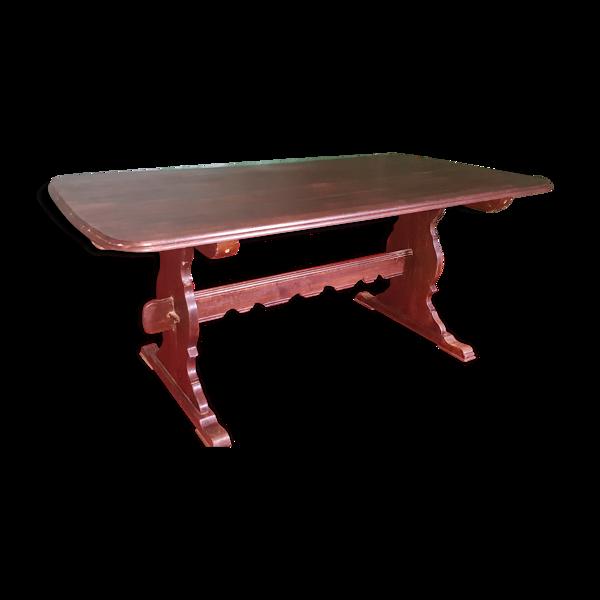 Selency Table chêne avec allonges