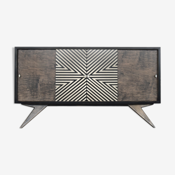 Sideboard with hand-painted pattern, 1960
