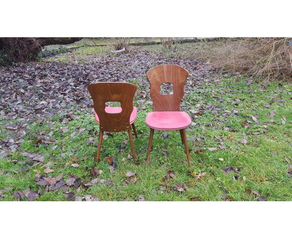 Paire de chaises Baumann modèle Gentiane vintage 60