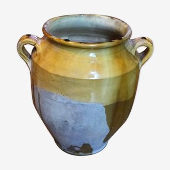 Pot jaune vernissé à confit du Sud-ouest