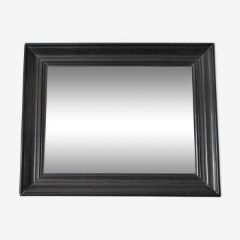 Miroir bois noirci Napoléon III XIXème 37,5 cm x 46,8 cm