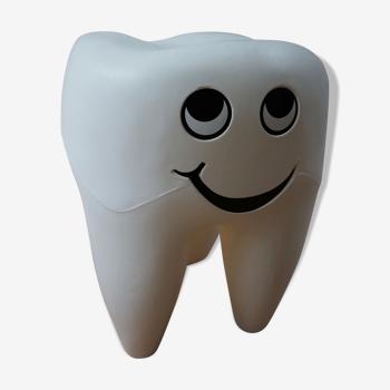 Tabouret dentaire en plastique vintage en forme de dent, années 1970