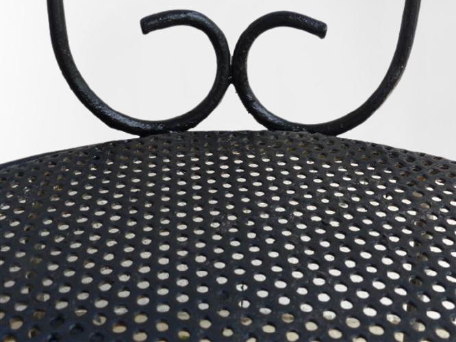 Paire de chaises de jardin en fer forgé