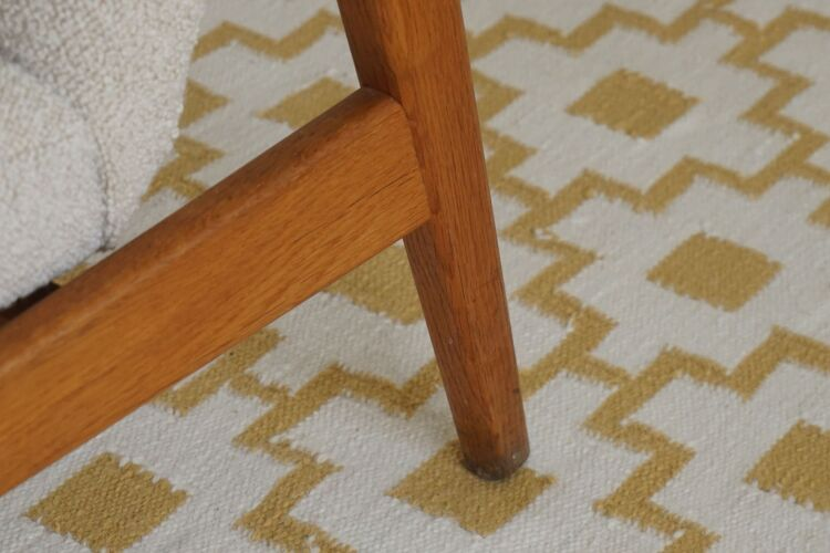 Chaise facile danoise du milieu du siècle, attribuée à Tove et Edvard Kindt Larsen, années 1960