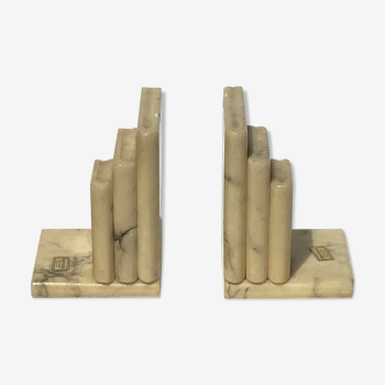 Italian alabaster book ends, 1960s