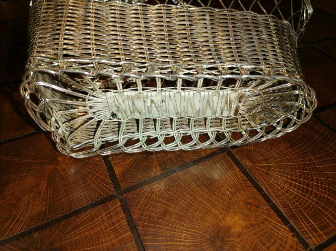 Panier à bouteille de table vintage